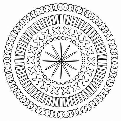 Mandala Coloring Modern Pages Mandalas