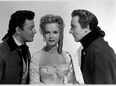 Cornel Wilde, Michael Wilding, and Anne Francis in The