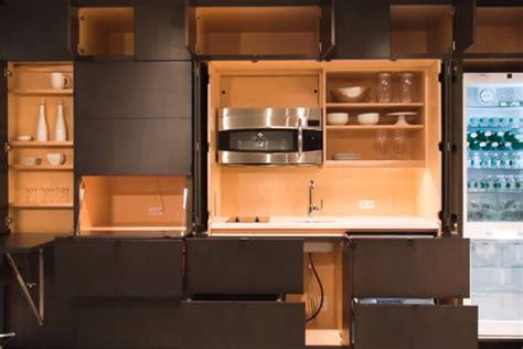 modular wall unit holds  entire kitchen  verge