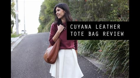 cuyana leather tote bag review mademoiselle youtube