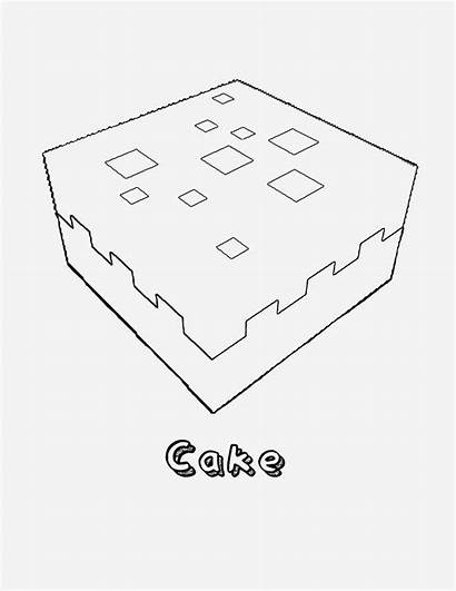 Minecraft Coloring Pages Cake Printable Creeper Freebie