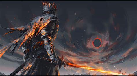 Dark Souls Phone Wallpapers Download 1920x1080 Dark Souls Soul Of Cinder Boss Sword Fire Artwork Wallpapers For