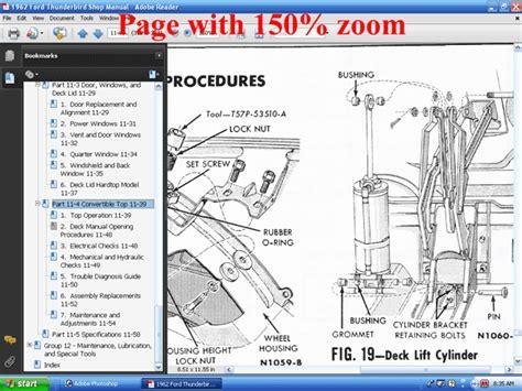 forel publishing llc  ford thunderbird shop manual