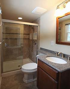 The small bathroom remodeling fairfax burke manassas for 5 foot by 8 foot bathroom design