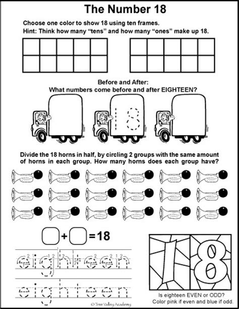 All Worksheets » Number 18 Worksheets  Printable Worksheets Guide For Children And Parents