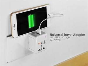 Universal Travel Adapter With Usb Ac Charger  Gzwp99