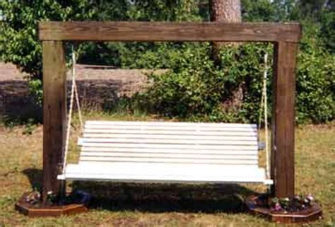 wood frame for porch swing set with free plans
