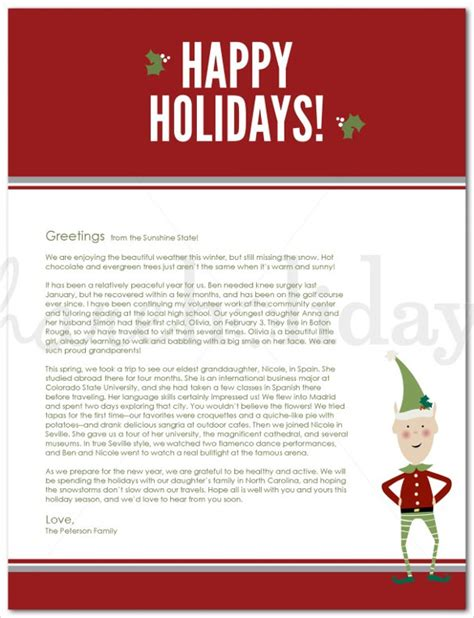 write holiday letter  clients