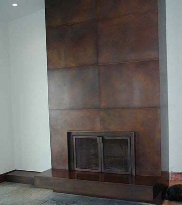 bronze wall cladding fireplace surround  doors