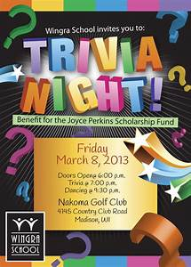 trivia night event flyer special event flyer designs With trivia night poster template