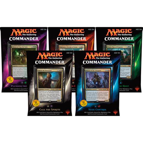 commander 2015 complete set of 5 decks magic the gathering from magic madhouse uk