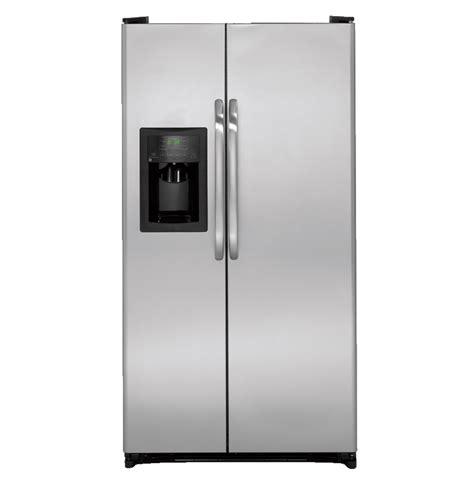 general electric gshjsdss  cu ft side  side refrigerator    spill proof