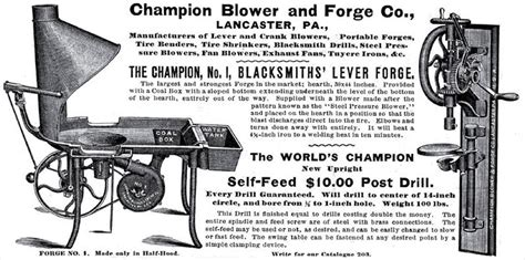 champion blower forge   ad champion blower