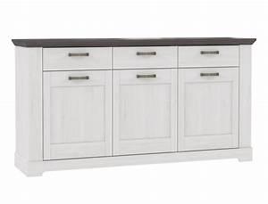 Kommode Grau Weiß : kommode weiss grau 175x93cm schneeeiche anrichte sideboard ~ Watch28wear.com Haus und Dekorationen