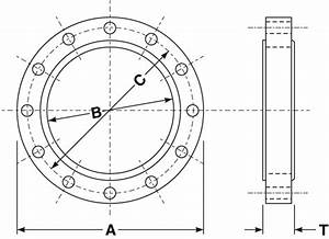 Flange Bolt Weight Chart Item Cspf1000 16 In Od A Carbon Steel Forged Plate