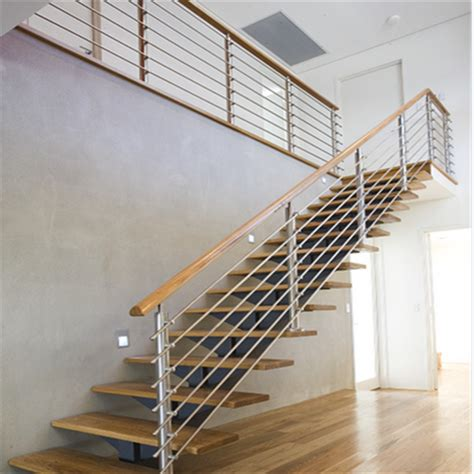 steel stair balustrade  stainless steel rod railing design