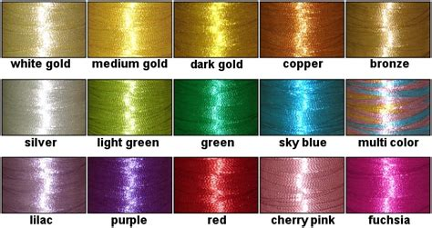 metallic color threadelight single metallic thread cone