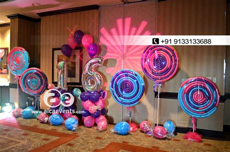 aicaevents india candy theme decorations  hyderabad