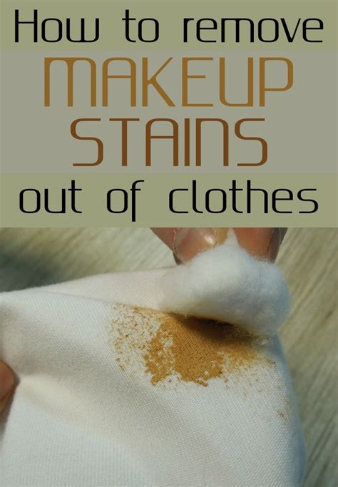 How To Remove Makeup Stains From Your Clothes