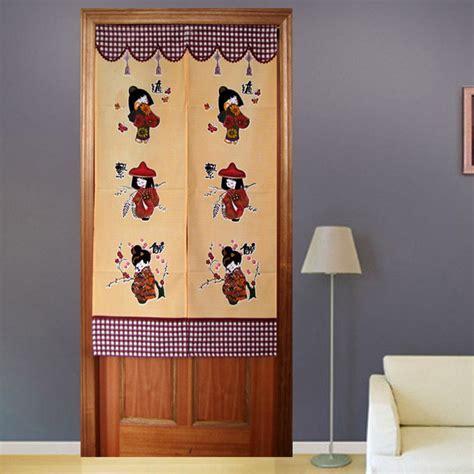 Lovely Kawaii Girls Japanese Door Curtain   Contemporary