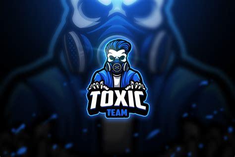 toxic skull  mascot esport logo logo templates