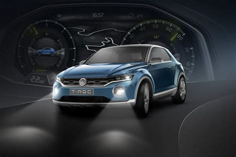 vw  roc concept   targa top small crossover rival