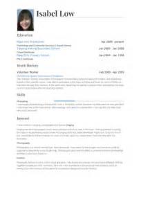 volunteer exles on resume resume format resume template volunteer work