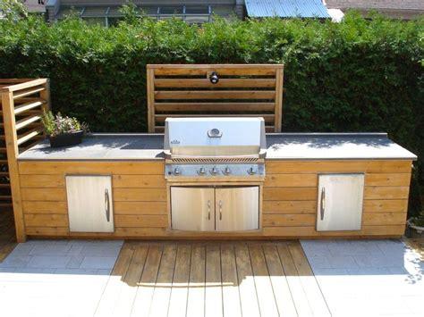 cuisine extérieure en bois projet cuisine extérieure