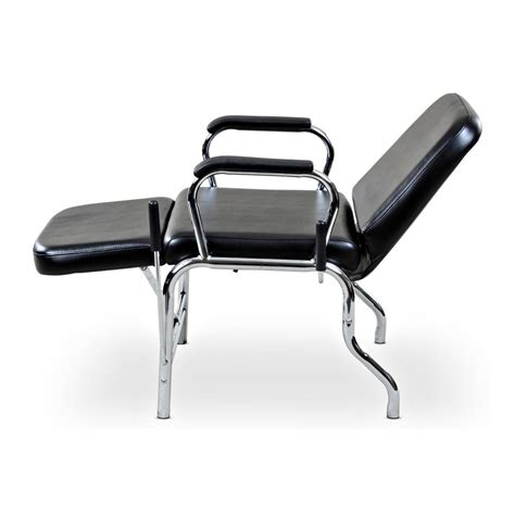 reclining salon chair used quot liger quot reclining hair salon shoo chair w footrest