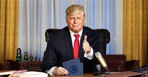 president trump donald comedy central anthony atamanuik night tv late impersonator host thursday april gavin network impersonating office parody shows