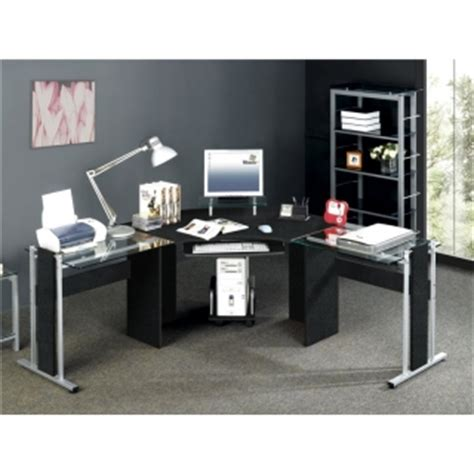 Black Corner Computer Desk Uk by Black Corner Computer Desk Buy Glass Top Black Corner