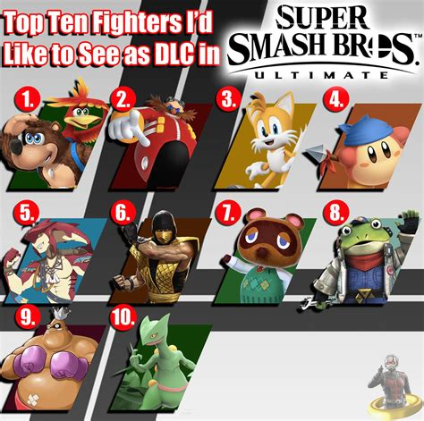 top ten fighters i d like to see as dlc in smash bro