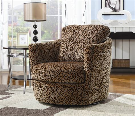swivel chair leopard accent chairs