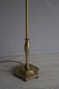 Antiques atlas adjustable brass reading lamp for Antique brass adjustable height floor lamp