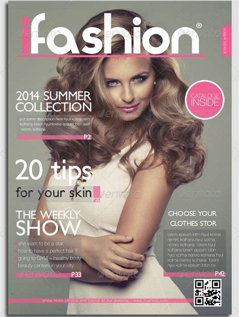 Make Your Own Magazine Cover Template by Fashion Magazine Cover Template Designs For You To Make