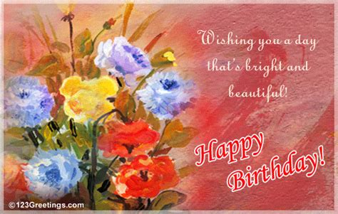 beautiful bday   flowers ecards greeting cards