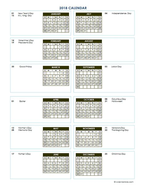 annual calendar vertical template printable templates