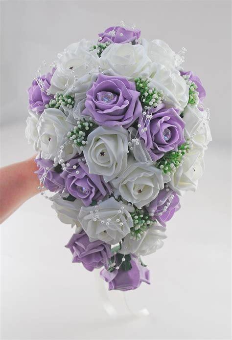 brides lilac ivory rose gypsophila wedding shower