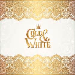 gold with white floral ornaments background vector illustration set 20 vector background