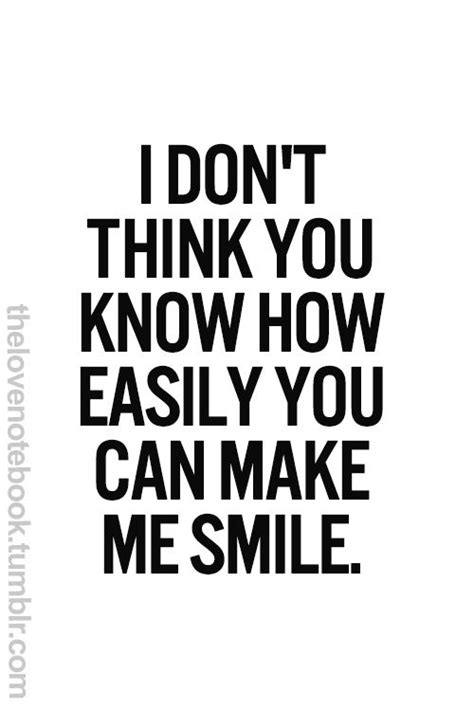 Thinking Of You Makes Me Smile Quotes