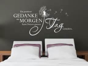 schlafzimmer wand sprüche wandtattoo positiver gedanke am morgen wandtattoo net