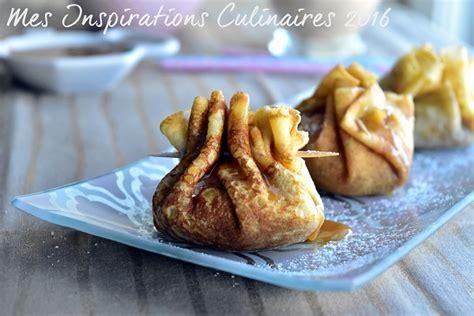 brick cuisine aumônière de crêpes aux pommes et caramel beurre salé le