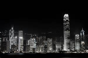 Hong Kong City Skyline at Night