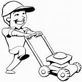 Mowing Lawn Mower Clipart Coloring Cliparts Library Grass Pages Cartoon Mow Kid Push Mickey Mouse Summer Clip Designs Graphics Clipartix sketch template