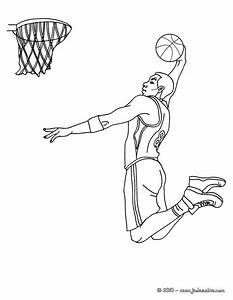 Coloriage Basketball Dunk Dessin Gratuit U00e0 Imprimer
