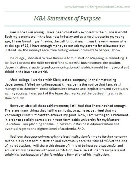 statement of purpose template successful sle statement of purpose for graduate school