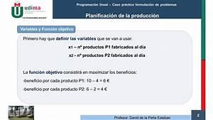 Caso Pr U00e1ctico Programaci U00f3n Lineal  Planificaci U00f3n De La