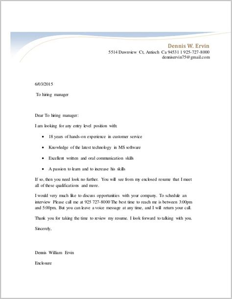 cover letter template for unsolicited resume cover