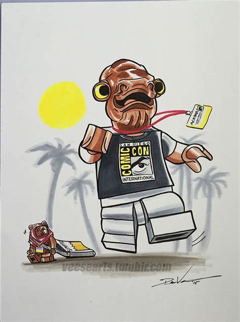Lego Star Wars Admiral Ackbar San Diego Comic Con By
