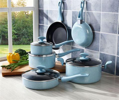 cookware nonstick pans pots stick non sets enamel porcelain hard cooksmark piece hqreview pearl dishwasher safe amzn